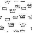 royal headwear crowns and tiaras seamless vector image vector image