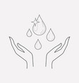 save the water icon line element vector image