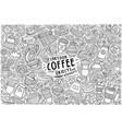 set coffee theme items objects and vector image
