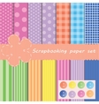set different paper for scrapbook vector image