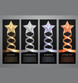 set of black banners gold platinumsilver and vector image vector image