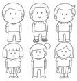 set of children vector image