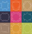 set retro monograms elegant outline borders and vector image