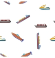 Ships pattern cartoon style vector image vector image