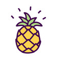simple pineapple cute doodle drawing vector image vector image