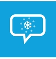 Snowflakes message icon vector image vector image
