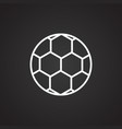 soccer ball thin line on black background vector image