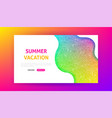 summer vacation landing page vector image vector image