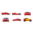 super car icon set cartoon style vector image