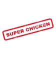 Super Chicken Rubber Stamp vector image vector image