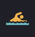 Swimming computer symbol vector image