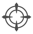 target solid icon aim vector image