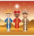 Three wise men icon Merry Christmas design vector image vector image