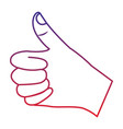 thumb up hand gesture icon image vector image