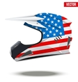USA Flag on Motorcycle Helmets vector image vector image