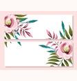wedding ornament floral decorative invitation card vector image vector image
