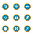 women jewelry icons set flat style vector image