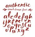 handwritten brush script with shabby texture vector image