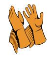 rancher gloves icon icon cartoon vector image