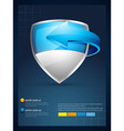 shield with arrow infographic template vector image