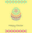 happy easter background with easter egg and tribal vector image