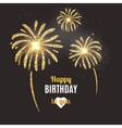 holiday poster Happy Birthday vector image