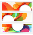 Bright liquid flow colorful banners set vector image