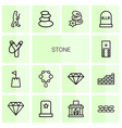 14 stone icons vector image vector image