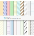 20 color seamless striped patterns vector image