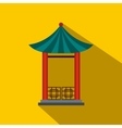 A japanese lotus pavilion icon flat style vector image vector image