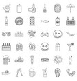 ale icons set outline style vector image vector image