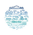bright rural landscape and agriculture farming vector image vector image