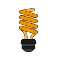 bulb cartoon flat vector image vector image