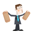Business Man With Empty Tickets vector image vector image