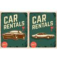 car rentals vector image vector image