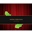 christmas invitation vector image vector image