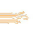 circuit board template design vector image