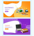 coding lessons programming on computer subject vector image vector image