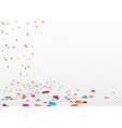 colorful ribbon and confetti isolated vector image vector image