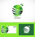 Corporate business green sphere logo vector image vector image
