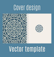 cover design with arabic pattern vector image