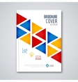 Cover flyer report colorful triangle geometric vector image vector image
