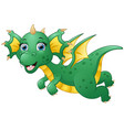 cute dragon cartoon flying vector image vector image