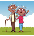 cute grandparents cartoon vector image