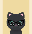 cute little cat in glasses poster vector image vector image