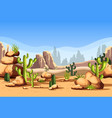 desert scenery or american canyon landscape vector image vector image