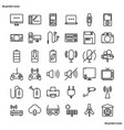 device and technology outline icons perfect pixel vector image vector image