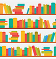 different books on bookcases seamless pattern vector image vector image