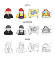 engineer-constructor construction worker site vector image vector image