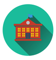 Flat design icon of School building in ui colors vector image